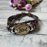 Кожаный браслет с изображениями созвездий Телец для мужчин и женщин