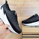 Зимние кроссовки Adidas Sharks черные с белым