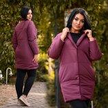 Женская стильная куртка демисезон в больших размерах 0500 Канада Овер Бочонок