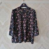 Размер L Красивая фирменная натуральная блузка