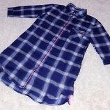 Пш Рубашка удлиненная платье туника одежда Love to Longe