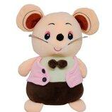 Мягкая игрушка Мышка в розовом жилете Sun Toys 147-4 подарок на нг 2020 год крысы