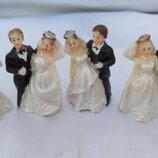 Статуэтка на свадебный торт Жених и невеста , 5 см