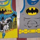 Комплект ярких маек с Бетменом на 4-6 лет