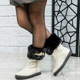 Код 6351 Ботинки зимние Натуральная кожа Внутри шерсть Высота подошвы 2.5/2 см Высота изделия 18-19