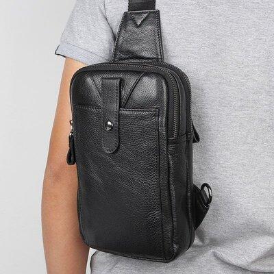 Рюкзак сумка через плече Стиляга New 5 натуральная кожа