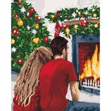 Картина по номерам. Рождественская романтика 40 50см KHO4640