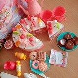 Игрушечный музыкальный торт с набором продуктов, 61 предмет