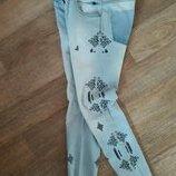 Джинсы с вышивкой стоейч Soulcal&Co на наш 44р