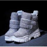 Сникерсы женские зимние ботинки на танкетке платформе теплые, удобные , Под заказ