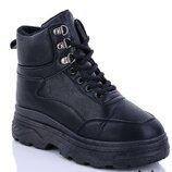 Ботинки черные спортивные зима в наличии 36,37,38,39,40