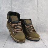 Зимние ботинки Caterpillar olive, натур.кожа