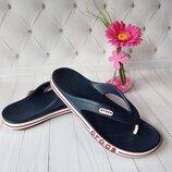 Кроксы вьетнамки Crocs Bayaband Flip синие, мужские крокс оригинал.