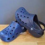 Кроксы Crocs Baya Clog 10126-410 темно синие со сквозными буквами Crocs, оригинал.