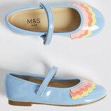 лаковые туфли, балетки на Marks&Spencer р.12 30,5 .
