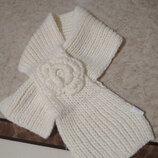 Оригинальньій вязаньій шарфик One Way
