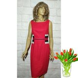 Платье миди элегантное льняное р 12/L marks&spencer
