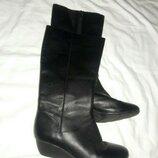 сапоги кожаные Clarks 38 размер