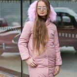 Пальто для девочек Зима, Размеры 128, 134, 140, 146, 152, 158.