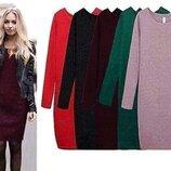 Женское свободное теплое платье из ангоры Стефани 42/44 и 46/48 размер. Есть цвета.