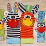 Игрушки-Погремушки на ножки и ручки носочки и браслеты детям