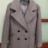 Пальто букле лавандовый цвет 10 размер Next
