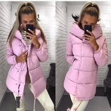 Модная и стильная куртка Зефирка, матовая плотная плащевка, очень тёплые. Сезон осень-зима. 42-46 рр