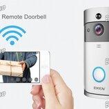 Умный дверной звонок с камерой Wi-Fi Doorbell. Bидeoдoмoфoн V5 серого цвета