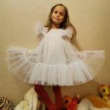 Нарядное праздничное платье на девочку новогоднее платье снежинка