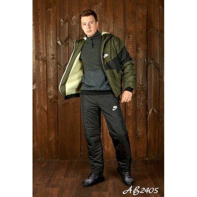 Мужской зимний спортивный костюм на меху и синтепоне, цвета