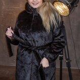 Женская шуба из искусственного меха под норку с капюшоном 90 см с 50 по 56 размер мх 241
