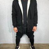 Стильное мужское худи утелпенное 2 цвета S-M-L-XL