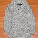 Серый свитер Rebel,кофта,пуловер,реглан,3-4 года,104 Состояние новой