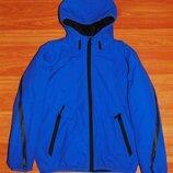 Синяя демисезонная куртка,8-9 лет,128,134 Состояние отличное
