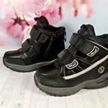 Зимние ботинки р-р 31-36 черные фирма w.niko