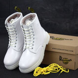 Женские зимние ботинки Dr.Martens White, ботинки доктор мартинс
