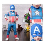 Новогодний костюм Капитан Америка, 3 размера на возраст от 5 до 12 лет.
