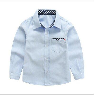 Стильная рубашка р. 100-110, 140-150 коттон