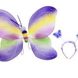 Карнавальный костюм Радужная бабочка фиолетовый 0900-118 Крылья бабочки, волшебная палочка, о