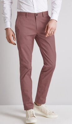 Шикарные стильные модные котоновые брюки цвета пыльной розы M&S