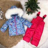 Зимний костюм куртка и полукомбинезон Единорожки
