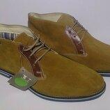 Ботинки мужские, натуральный замш, Venturini Италия