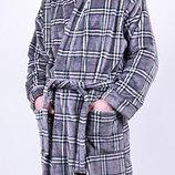 Теплый мужской халат раз 50-58