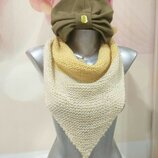 Шапка чалма для девочки. Теплая шапка. Шапочка. Шапка шарф.