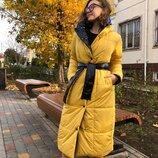 Пальто пуховик двусторонний 515 удобный , Размеры 42-44, 48-52, 54-58.