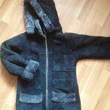 Куртка зимняя дубленка 8 11 лет