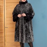 Шуба пальто норка каракульча swakara италия коллекция осень зима 2019-2020