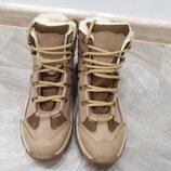 Ботинки укр-тек беж зимние