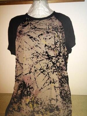 Шикарная Шифоновая Блуза С Набивным Бархатным Рисунком Бренд р-р 18