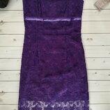 Коктейльное платье гипюровое платье